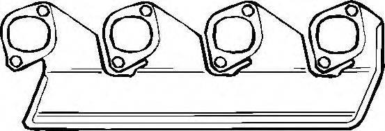 Прокладка, выпускной коллектор ELRING 835.102