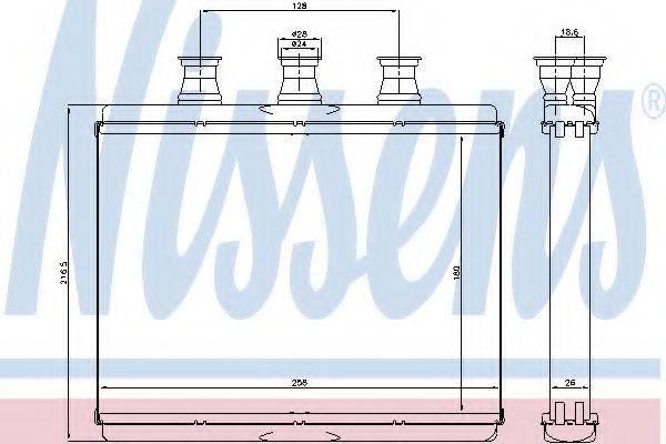 Теплообменник, отопление салона NISSENS 70517