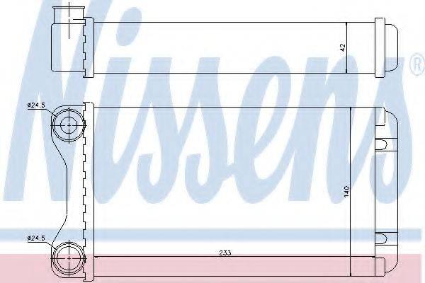 Теплообменник, отопление салона NISSENS 70226