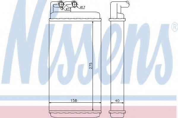 Теплообменник, отопление салона NISSENS 70220