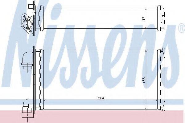 Теплообменник, отопление салона NISSENS 70501