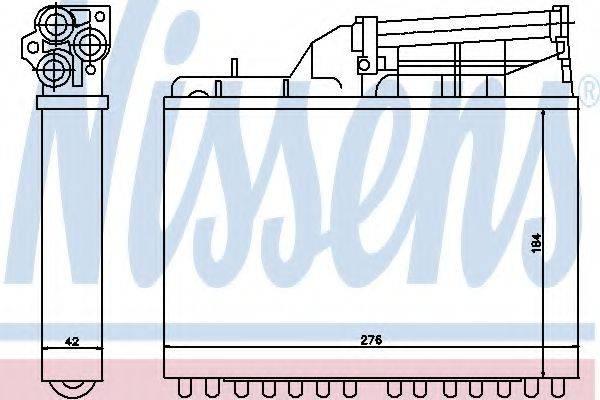 Теплообменник, отопление салона NISSENS 70502
