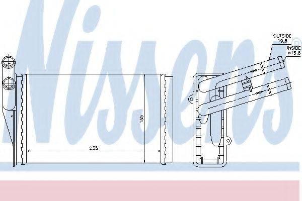 Теплообменник, отопление салона NISSENS 70221