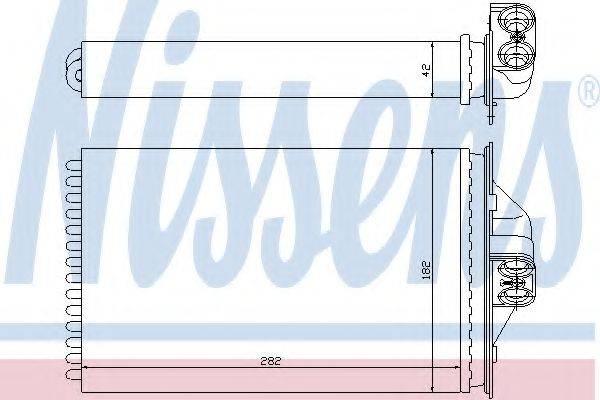 Теплообменник, отопление салона NISSENS 70975