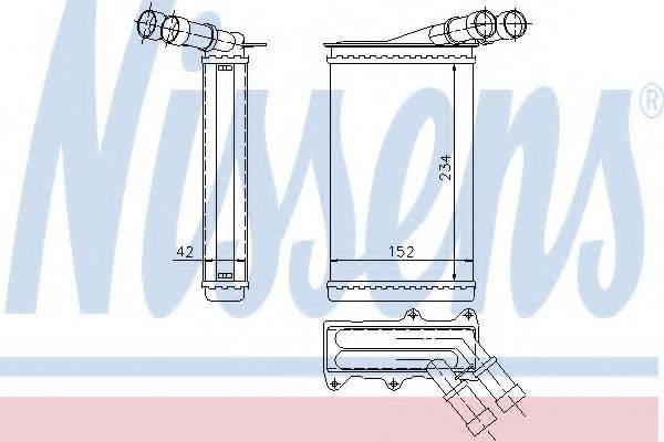 Теплообменник, отопление салона NISSENS 71156