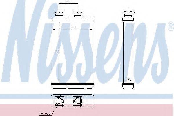 Теплообменник, отопление салона NISSENS 70513