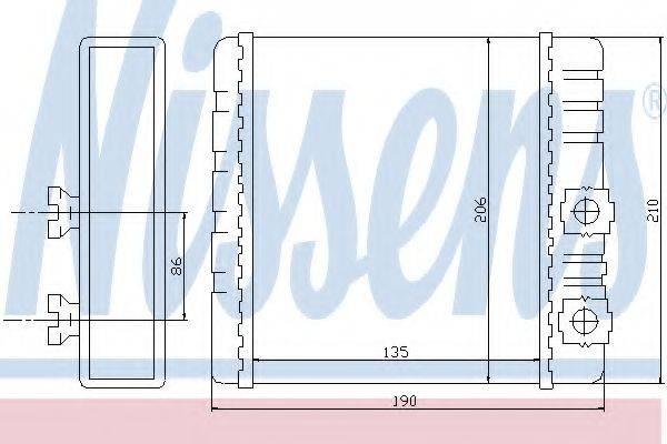 Теплообменник, отопление салона NISSENS 70514