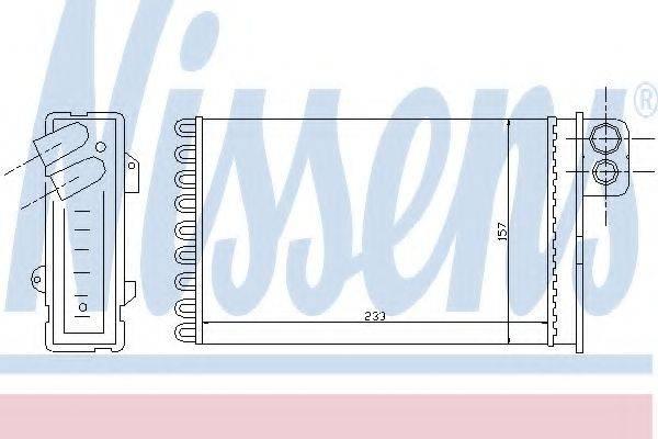 Теплообменник, отопление салона NISSENS 71152