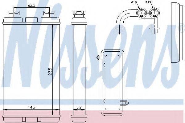 Теплообменник, отопление салона NISSENS 70519