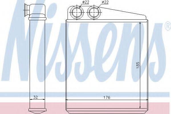 Теплообменник, отопление салона NISSENS 70228