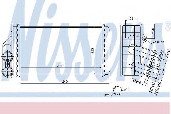 Теплообменник, отопление салона NISSENS 71157