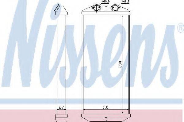 Теплообменник, отопление салона NISSENS 71158