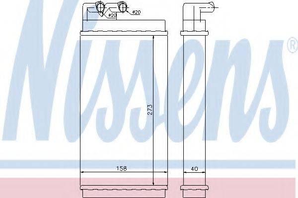 Теплообменник, отопление салона NISSENS 70230