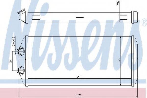 Теплообменник, отопление салона NISSENS 71164