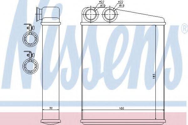 Теплообменник, отопление салона NISSENS 70807
