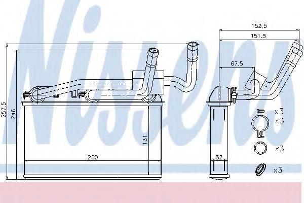 Теплообменник, отопление салона NISSENS 70529