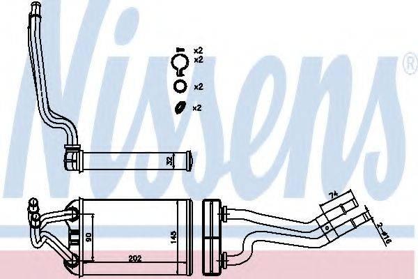 Теплообменник, отопление салона NISSENS 70980