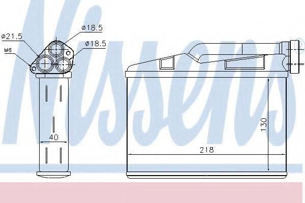 Теплообменник, отопление салона NISSENS 70530