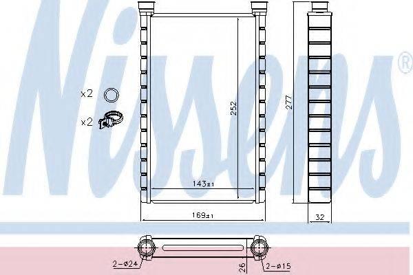 Теплообменник, отопление салона NISSENS 70527