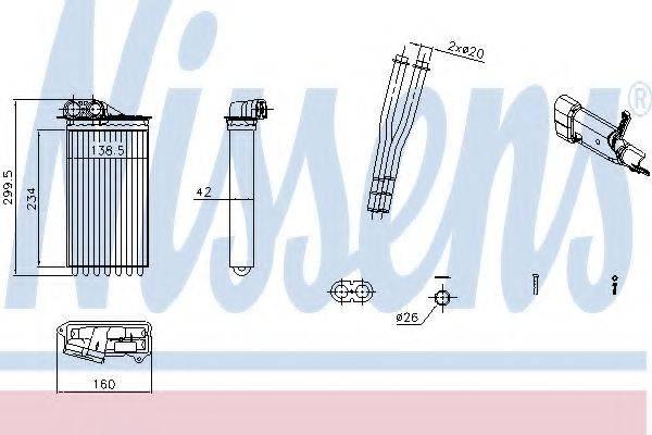 Теплообменник, отопление салона NISSENS 71161