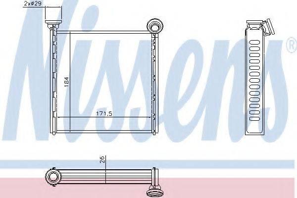 Теплообменник, отопление салона NISSENS 71162