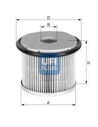 Топливный фильтр UFI 26.676.00