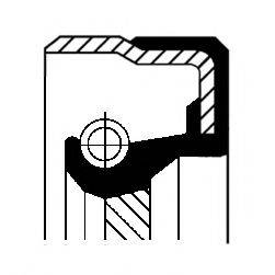 Уплотняющее кольцо, ступенчатая коробка передач; Уплотняющее кольцо, раздаточная коробка CORTECO 01019285B