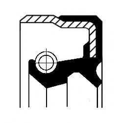 Уплотняющее кольцо, дифференциал; Уплотняющее кольцо, ступица колеса CORTECO 01019480B