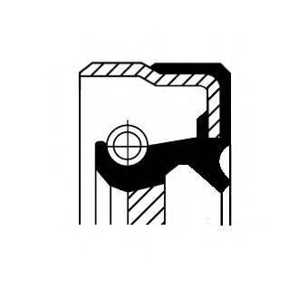 Уплотняющее кольцо, ступенчатая коробка передач; Уплотняющее кольцо, дифференциал; Уплотнительное кольцо вала, приводной вал (масляный насос) CORTECO 01033854B