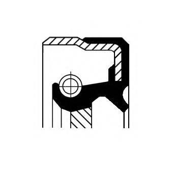 Уплотняющее кольцо, ступенчатая коробка передач CORTECO 01026401B