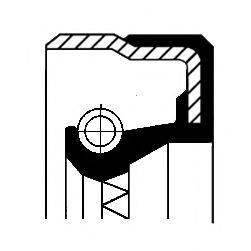 Уплотняющее кольцо, ступенчатая коробка передач; Уплотняющее кольцо, дифференциал CORTECO 01034065B