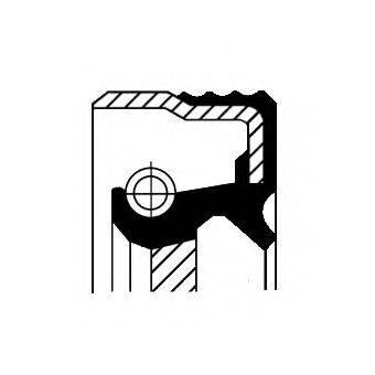 Уплотняющее кольцо, ступенчатая коробка передач CORTECO 01033870B