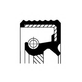 Уплотняющее кольцо, ступенчатая коробка передач CORTECO 01019287B