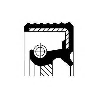 Уплотняющее кольцо, ступенчатая коробка передач; Уплотняющее кольцо вала, автоматическая коробка передач CORTECO 01035174B