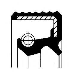 Уплотняющее кольцо, коленчатый вал; Уплотняющее кольцо, ступица колеса CORTECO 01016784B