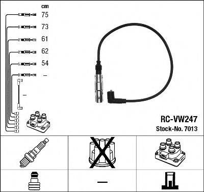 Комплект проводов зажигания NGK 7013