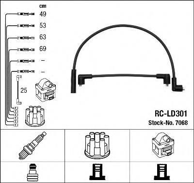 Комплект проводов зажигания NGK 7068