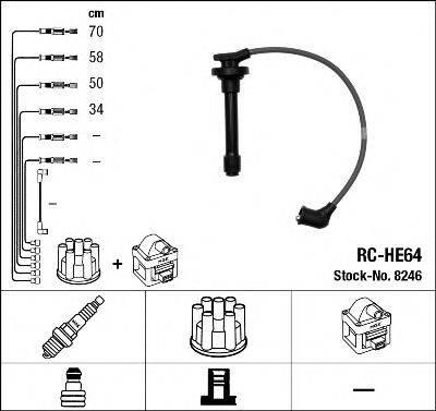 Комплект проводов зажигания NGK 8246