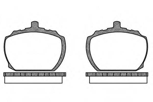 Комплект тормозных колодок, дисковый тормоз REMSA 0058.10
