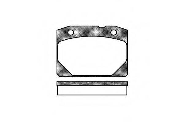 Комплект тормозных колодок, дисковый тормоз REMSA 0080.00