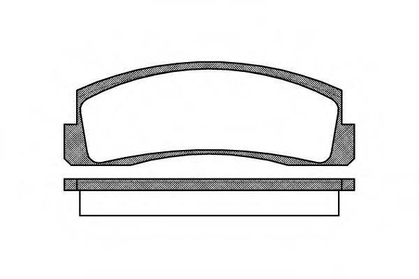Комплект тормозных колодок, дисковый тормоз REMSA 0103.00