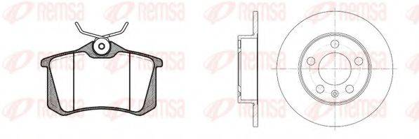 Комплект тормозов, дисковый тормозной механизм REMSA 8263.01
