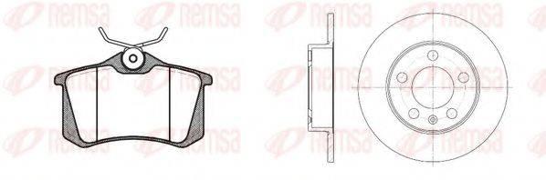 Комплект тормозов, дисковый тормозной механизм REMSA 8263.04