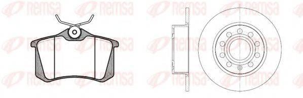 Комплект тормозов, дисковый тормозной механизм REMSA 8263.06