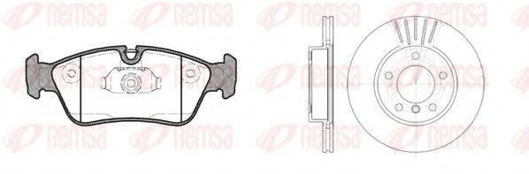 Комплект тормозов, дисковый тормозной механизм REMSA 8384.02