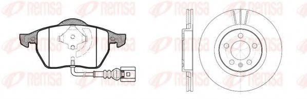 Комплект тормозов, дисковый тормозной механизм REMSA 8390.06