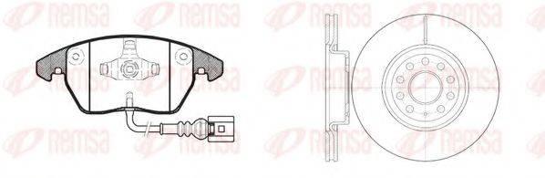 Комплект тормозов, дисковый тормозной механизм REMSA 81030.02