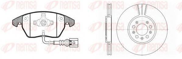 Комплект тормозов, дисковый тормозной механизм REMSA 81030.03