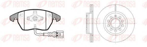 Комплект тормозов, дисковый тормозной механизм REMSA 81030.04