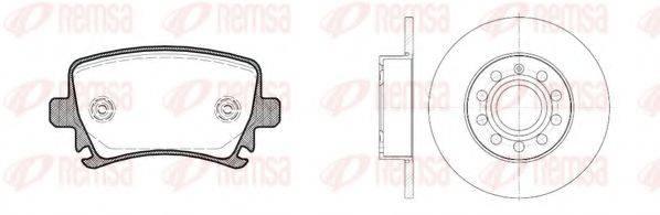 Комплект тормозов, дисковый тормозной механизм REMSA 81031.01